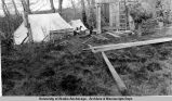 Katmai Bay cabin under construction.