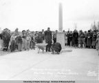 Placing of Corner-Stone, Palmer Day, Palmer, Alaska 5/15/1937.