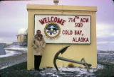 Me at Cold Bay sign.