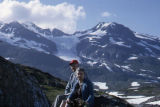 Edna & Alfred in front of Worthington Glacier. Near Valdez.