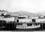 "The ""Prince of Wales"" moored at the Ketchikan docks, July 1924."