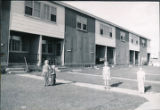 Front side of apartment on Ladd Air Force Base.