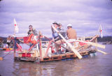 """MASH"" Raft. Great Raft Race. Tanana River."