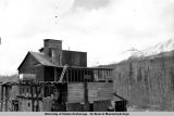 Gold mining mill at Moose Creek, May 1945.