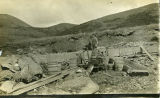 Men and mining equipment, Flat Creek Mine.