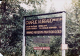 Charlie Hubbard Museum signpost.