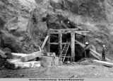 Constructing tunnel for Eklutna Power Plant, 1951-1954.