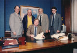 Signing of School Foundation Formula Bill, 1987.