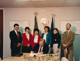 Signing of a cigarette tax bill, 1989.