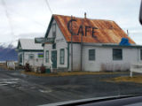 Seaview Cafe in winter.