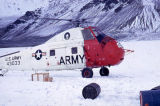 Army helicopter on Gulkana Glacier.
