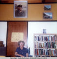 Rusty's paintings in Palmer Library; May 1972.