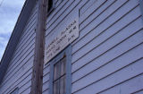 Sign on building in Gambell.