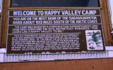 Happy Valley Camp Sign.