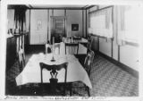 Dining room, Upper Tonsina Hunting Lodge, October 5, 1935.