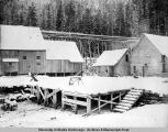 Shakan, Alaska, buildings and equipment, ca. 1890-1910.