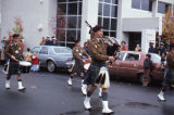 Bagpipers during Alaska Day Parade in Sitka.