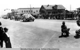 Cars in summer parade, 1939.