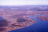 Aerial view of Fort Yukon.