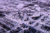 Aerial shots of College, University Avenue, and the University of Alaska in the winter of...