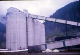 Storage silos for pulp chips.