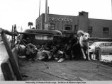 Fur Rendezvous, ca. 1940's. Truck load of dogs.