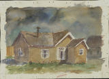 Watercolor of a house in Anchorage.