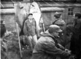 Soldier posing with halibut.