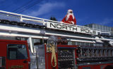 Fire engine with Santa Claus.