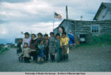 Native children and Mrs. Mc Kotzebue 7-5-52.