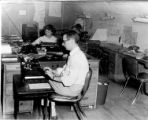 The Anchorage Daily News newsroom in 1952.
