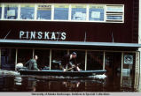 Pinska's store during the Fairbanks flood, 1967.