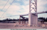 Trans-Alaska Pipeline at Tanana River, 1977.