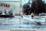 Grocery shopping during Fairbanks flood, 1967.