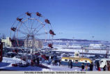 Ferris wheel and food vendors, Anchorage Fur Rendezvous, 1968.