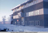Apartment building in Fairbanks winter, 1968.