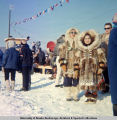 Spectators at North American Championship Sled Dog Races, Fairbanks, 1966.