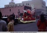 Alaska Airlines float in Golden Days parade, Fairbanks.