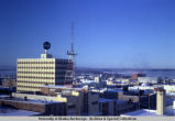 Aerial view of downtown Anchorage, 1968.