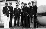 North Star officers standing on deck of the North Star.