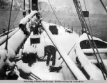 Snow on Boxer in Bering Straits [sic], 1931.