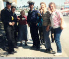 Anchorage Garden Club members with Russian sailors.
