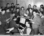 Lorene Harrison & a Sunday Nite Sing-a-Long, USO Anchorage Alaska 1942-45.