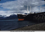 Ship at dock in Homer, Alaska.