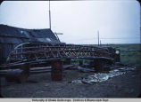 Boat skeleton in Nome, Alaska.