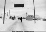 Entrance to Arctic Valley Ski Bowl, Fort Richardson, 1953-1954.