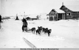 Mother Hopkins in the Moose Dog Races at Poorman, Alaska, March 1917.