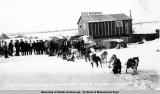 Dr. Good and Walter Goyne leaving Poorman, Alaska, March 1917.