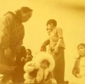 Miss Arctic Circle of 1952 Kotzebue - 4 Jul - Her mother is on the left.