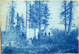 U.S. Army party at Spruce Camp at head of Turnagain Arm, 1898.